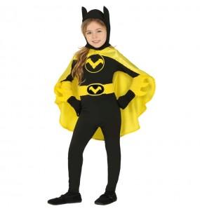 Disfarce Super Heroína Batwoman menina para que eles sejam com quem sempre sonharam