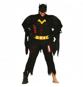 Fato de Batman zombie adulto para a noite de Halloween