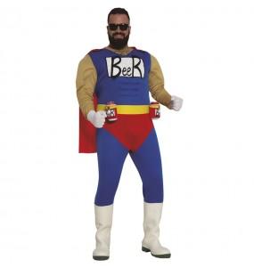 Fato de Super Herói da Cerveja para homem