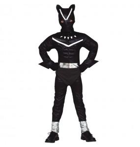 Disfarce Black Panther menino para deixar voar a sua imagina??o