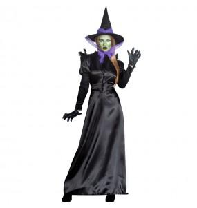 Fato de Bruxa Branca de Neve mulher para a noite de Halloween