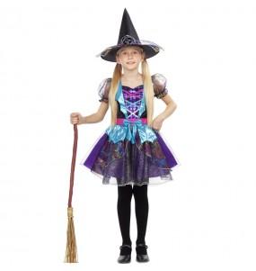 Disfarce Halloween Bruxa brilhante meninas para uma festa Halloween