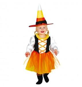 Disfarce Halloween Bruxa Doce com que o teu bebé ficará divertido
