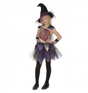 Disfarce Halloween Bruxa esqueleto meninas para uma festa Halloween