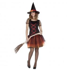 Fato de Bruxa fantasia mulher para a noite de Halloween