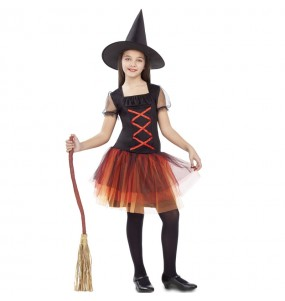 Disfarce Halloween Bruxa fantasia tutu meninas para uma festa Halloween