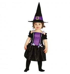 Fato de Bruxa gótica para bebé
