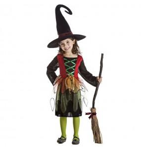 Fato de Bruxa feiticeira para menina