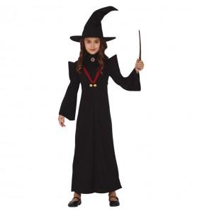 Fato de Bruxa Minerva McGonagall para menina