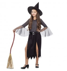 Disfarce Halloween Bruxa prateada meninas para uma festa Halloween