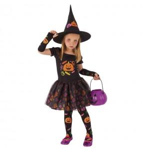 Fato de Bruxa trick or treat para menina
