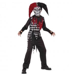 Disfarce Halloween Bobo maligno para meninos para uma festa do terror