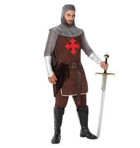 Disfarce Cavaleiro Medieval das Cruzadas adulto divertidíssimo para qualquer ocasião