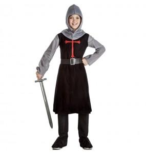 Fato de Cavaleiro Medieval Preto para menino