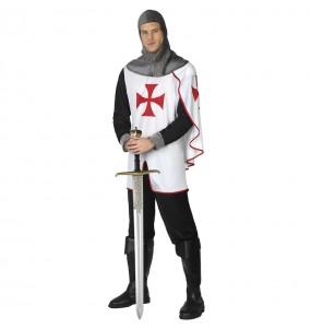 Fato de Cavaleiro medieval templário para homem