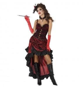 Disfarce original Cabaret vermelho mulher mulher ao melhor preço