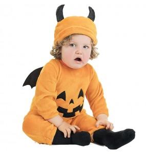 Disfarce Halloween Abóbora Maligna com que o teu bebé ficará divertido.