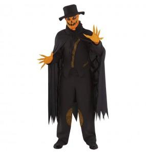 Fato de Abóbora sinistra adulto para a noite de Halloween