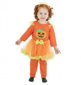 Disfarce Halloween Abóbora Tutu com que o teu bebé ficará divertido.