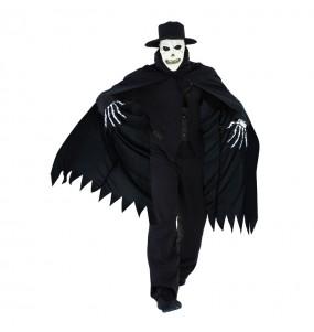Fato de Caveira Sinistra adulto para a noite de Halloween