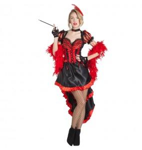 Disfarce original Bailarina Can-can Burlesque mulher ao melhor preço