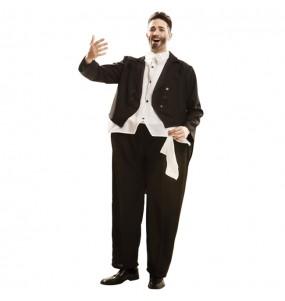 Disfarce Cantor de Ópera Pavarotti rechonchudo adulto divertidíssimo para qualquer ocasião