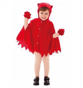 Disfarce Halloween Manto Diabo meninos para uma festa do terror