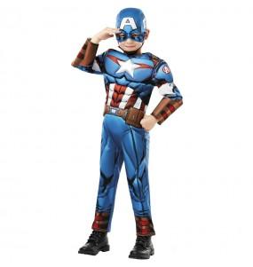 Fato de Capitão América Deluxe para menino