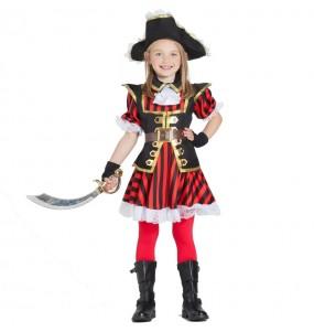 Disfarce Capitã Pirata menina para que eles sejam com quem sempre sonharam