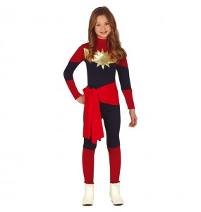 Disfarce Capitã Marvel menina para que eles sejam com quem sempre sonharam
