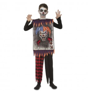 Disfarce Halloween Carta Joker assassino para meninos para uma festa do terror