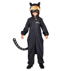 Disfarce Cat Noir Kigurumi menino para deixar voar a sua imagina??o