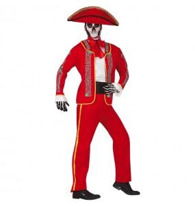 Fato de Catrin Vermelho Mexicano para homem