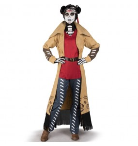 Fato de Catrina Angélica mulher para a noite de Halloween