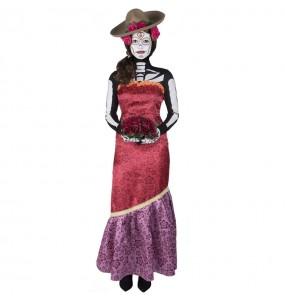 Fato de Catrina Casandra mulher para a noite de Halloween