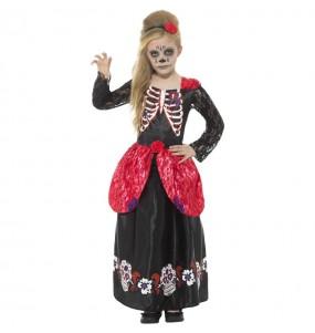 Fato de Catrina esqueleto para menina