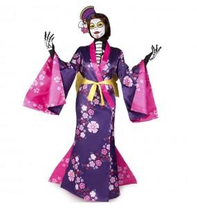 Fato de Catrina Mariko mulher para a noite de Halloween