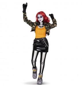 Fato de Catrina Maya mulher para a noite de Halloween