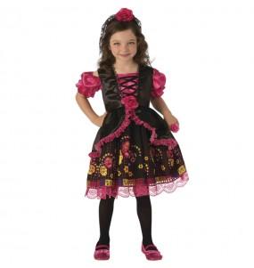 Fato de Catrina rosa para menina