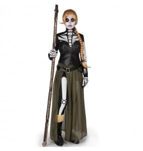 Fato de Catrina Valeria mulher para a noite de Halloween