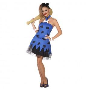 Disfarce original Dama das Cavernas azul mulher mulher ao melhor preço