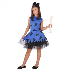 Disfarce Troglodita das cavernas azul menina para que eles sejam com quem sempre sonharam