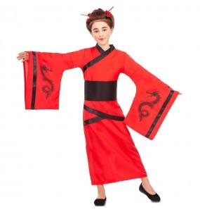 Disfarce Chinesa Dragão Vermelho menina para que eles sejam com quem sempre sonharam