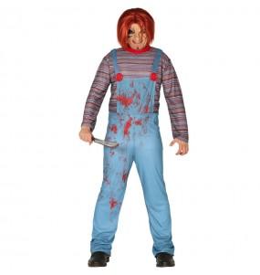Fato de Chucky o boneco ensanguentado para homem