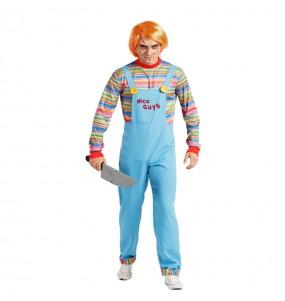 Fato de Chucky O Boneco Diabólico adulto para a noite de Halloween
