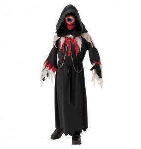 Disfarce Halloween Monstro Ciclope para meninos para uma festa do terror