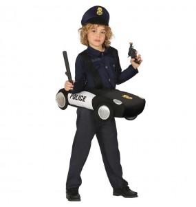 Disfarce Carro da Polícia menino para deixar voar a sua imaginação
