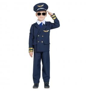 Fato de Comandante de voo para menino