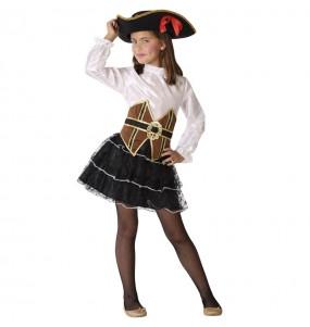 Disfarce Pirata Corsária menina para que eles sejam com quem sempre sonharam