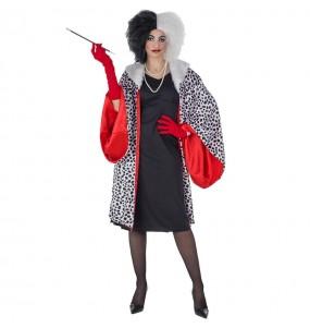Disfarce original Cruella de Vil Deluxe mulher ao melhor preço
